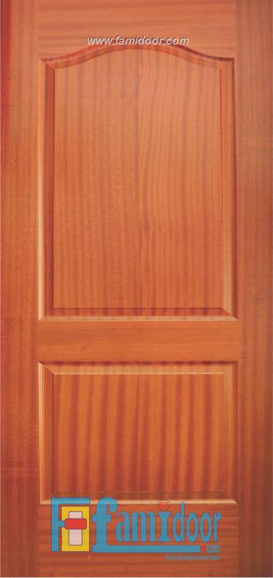 Cửa gỗ HDF VENEER 2A-SAPELE tại Showroom Famidoor 0828.400.400