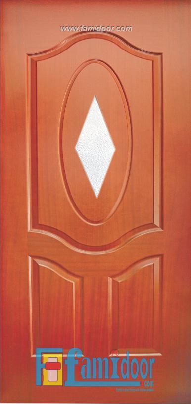 Cửa gỗ HDF VENEER 3G1-XOAN ĐÀO tại Showroom Famidoor 0828.400.400