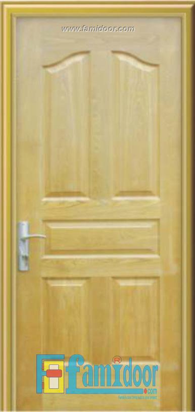 Cửa gỗ HDF VENEER 5A-ASH tại Showroom Famidoor 0828.400.400