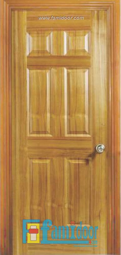 Cửa gỗ HDF VENEER 6A-TEAK tại Showroom Famidoor 0886.500.500