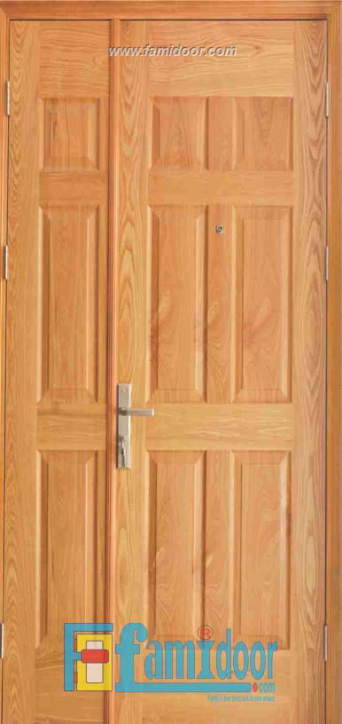 Cửa gỗ HDF VENEER 9A-ASH tại Showroom Famidoor 0855.400.400