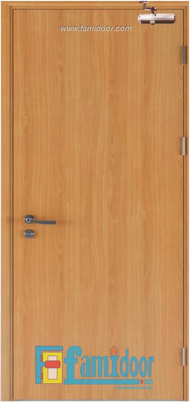 Cửa gỗ chống cháy GCC-P1 ở Showroom Famidoor 0828.400.400