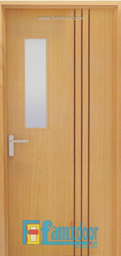 Cửa gỗ chống cháy GCC-P1G1R3 tại Showroom Famidoor 0886.500.500