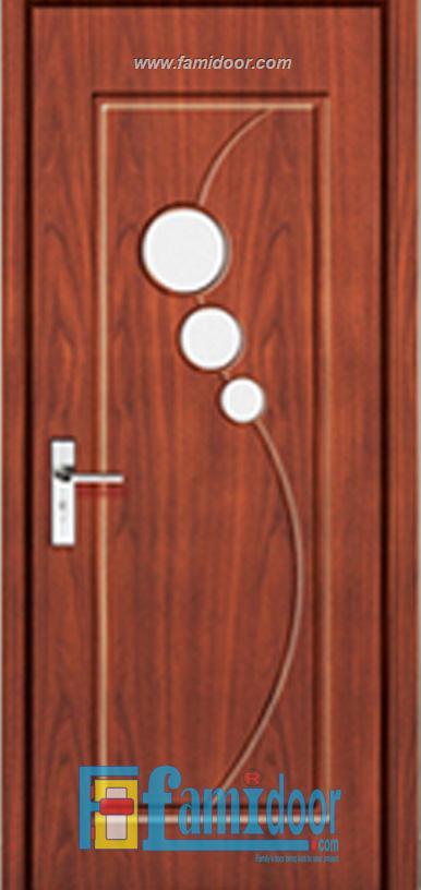 Cửa gỗ cao cấp fmd L N6D1 ở Showroom Famidoor 0855.400.400