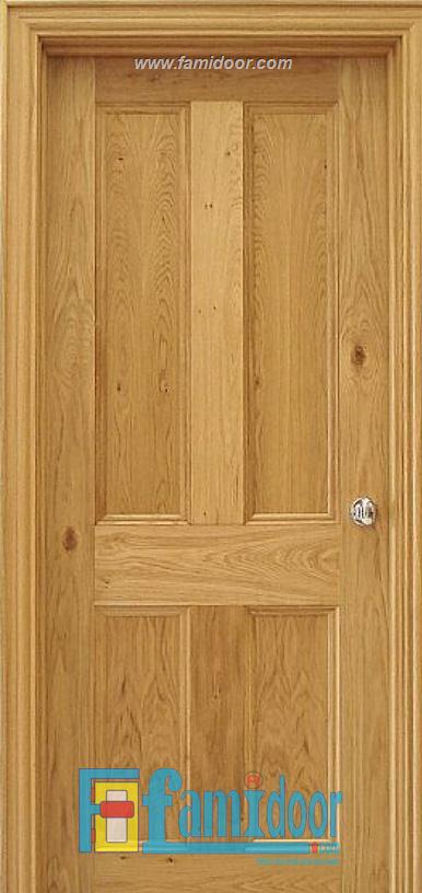 Cửa gỗ tự nhiên 04A tại Showroom Famidoor 0818.400.400