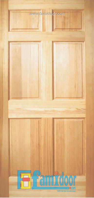 Cửa gỗ tự nhiên 06A tại Showroom Famidoor 0824.400.400