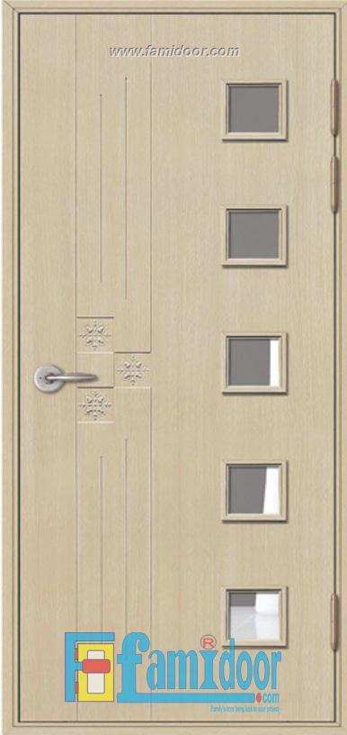 Cửa nhựa ABS Hàn Quốc KSD.208-MQ808 ở Showroom Famidoor 0818.400.400