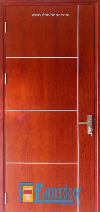 Cửa gỗ MDF MELAMINE P1R4b XOAN ĐÀO tại Showroom Famidoor 0828.400.400