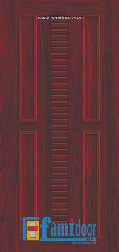 Cửa nhựa gỗ ghép thanh NG B22 Showroom Famidoor 0855.400.400