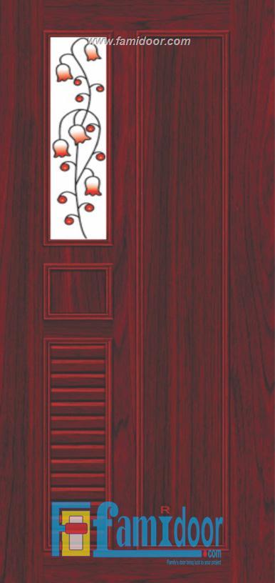 Cửa nhựa gỗ ghép thanh NG B25 Showroom Famidoor 0828.400.400