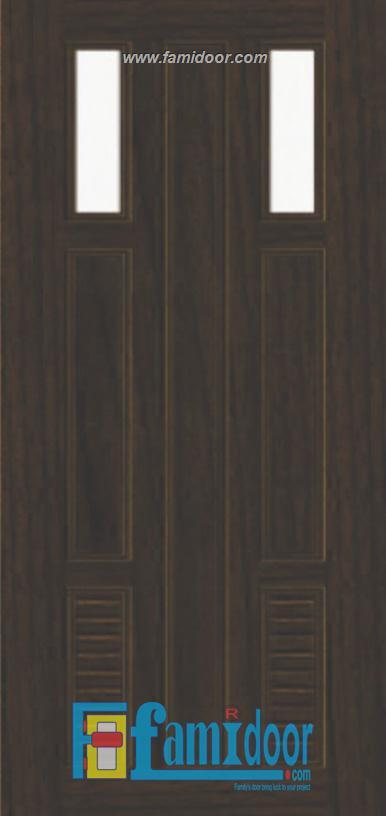 Cửa nhựa gỗ ghép thanh NG C23 ở Showroom Famidoor 0818.400.400