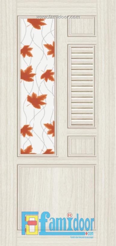 Cửa nhựa gỗ ghép thanh NG G12 Showroom Famidoor 0824.400.400