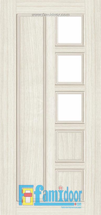 Cửa nhựa gỗ ghép thanh NG G30 Showroom Famidoor 0855.400.400
