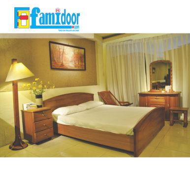 Nội thất phòng ngủ PN1 tại Showroom Famidoor cung cấp đặc trưng với độ bền cao, mẫu mã đa dạng, đồng thời có giá thành vô cùng hợp lí, phải chăng.
