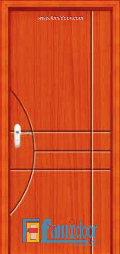 Cửa gỗ cao cấp PVC 1055 ở Showroom Famidoor 0828.400.400