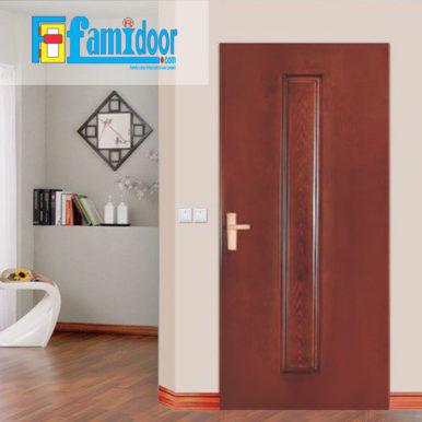 Cửa gỗ HDF MDF.P1-C12 ở Showroom Famidoor có tính ổn định và mật độ gỗ mịn.