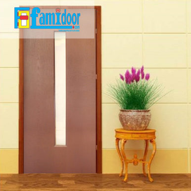 Cửa gỗ HDF MDF.1G-C11 ở Showroom Famidoor có tính ổn định và mật độ gỗ mịn.