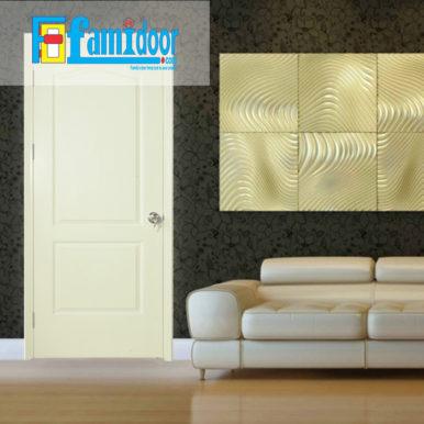 Cửa gỗ HDF MDF.2A-C2 ở Showroom Famidoor có tính ổn định và mật độ gỗ mịn.