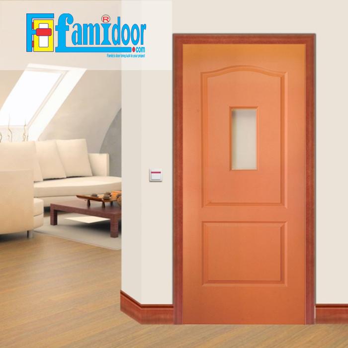Cửa gỗ HDF MDF.2G1-C9 ở Showroom Famidoor có tính ổn định và mật độ gỗ mịn.
