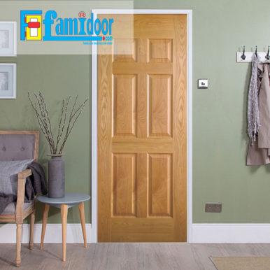 Cửa gỗ HDF VENEER 6A-ASH tại Showroom Famidoor là một trong những loại cửa gỗđược sử dụng khá phổ biến hiện nay.
