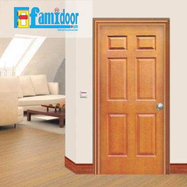 Cửa gỗ HDF MDF.6A-C9 ở Showroom Famidoor có tính ổn định và mật độ gỗ mịn.