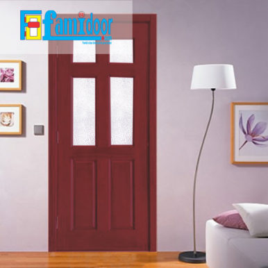 Cửa gỗ HDF MDF.6G4-C12 ở Showroom Famidoor có tính ổn định và mật độ gỗ mịn.