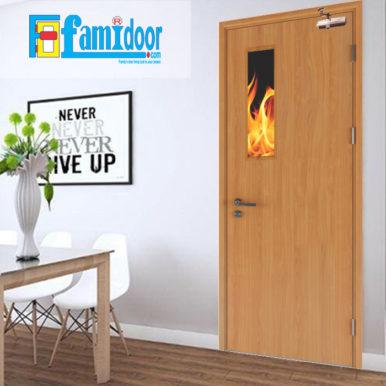 Cửa gỗ chống cháy GCC-P1G ở Showroom Famidoor có đầy đủ các tiêu chuẩn về yêu cầu phòng cháy chữa cháy. Đây là loại cửa gỗ chống cháy đạt các tiêu chuẩn về xây dựng, tiêu chuẩn đo lường chất lượng,…