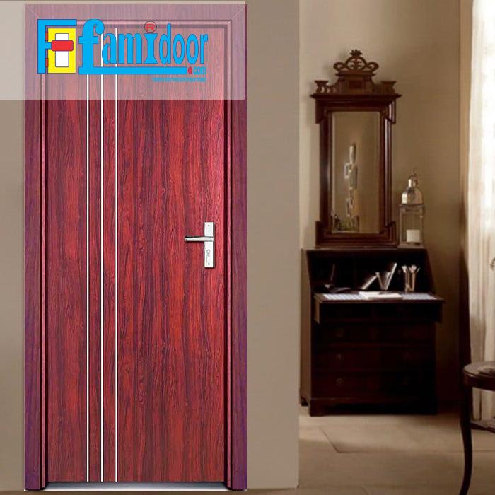 Cửa gỗ cao cấp fmd M-D3 ở Showroom Famidoor có giá hợp lý, chỉ bằng một nửa giá so với gỗ tự nhiên thật nguyên tấm. Cửa gỗ cao cấp có chất lượng ổn định, không bị mọt, cong vênh/ co nhót khi thời tiết thay đổi do vật liệu chính (thông ghép) đã được xử lý tẩm, sấy đúng kỹ thuật.