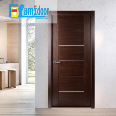 Cửa gỗ cao cấp fmd M1066S ở Showroom Famidoor có giá hợp lý, chỉ bằng một nửa giá so với gỗ tự nhiên thật nguyên tấm.