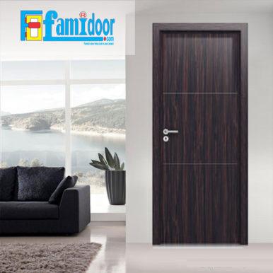 Cửa gỗ MDF MELAMINE M2 tại Showroom Famidoor có tính năng ưu việt là dễ định hình hoa văn cho mọi sản phẩm phức tạp.