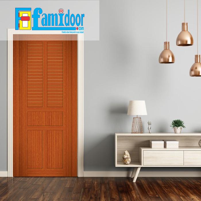 Cửa nhựa giả gỗ MB19 ở Showroom Famidoor được làm từ bột gỗ và bột nhựa kèm với keo đặc biệt ép nén ở áp suất cao và nhiệt độ cao tạo nên thanh nhựa cứng cáp, chịu lực tốt, chống thấm nước, chống mối mọt.