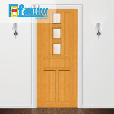 Cửa nhựa giả gỗ MO42 ở Showroom Famidoor được làm từ bột gỗ và bột nhựa kèm với keo đặc biệt ép nén ở áp suất cao và nhiệt độ cao tạo nên thanh nhựa cứng cáp, chịu lực tốt, chống thấm nước, chống mối mọt.