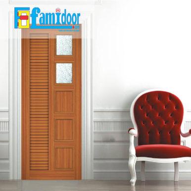 Cửa nhựa gỗ ghép thanh NG Y26 ở Showroom Famidoor có độ bền rất cao và nhiều tính năng ưu việt đáp ứng yêu cầu kỹ thuật cũng như thời tiết tại Việt Nam.