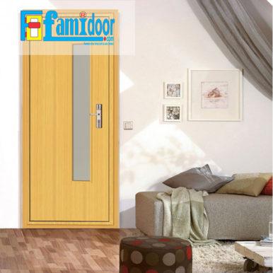 Cửa gỗ MDF VENEER P1GL tại Showroom Famidoor chính là gỗ tự nhiên, tuy nhiên được lạng mỏng từ cây gỗ tự nhiên, gỗ veneer chỉ dày từ 1mm cho đến 2ly là nhiều.