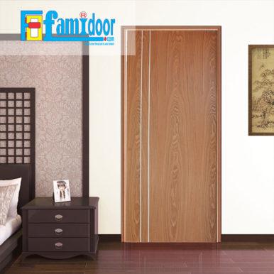 Cửa gỗ MDF VENEER P1R2A tại Showroom Famidoor chính là gỗ tự nhiên, tuy nhiên được lạng mỏng từ cây gỗ tự nhiên, gỗ veneer chỉ dày từ 1mm cho đến 2ly là nhiều.