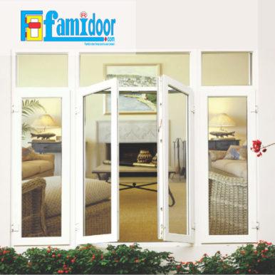 Cửa nhựa lõi thép FMD-UW02 ở Showroom Famidoor được sản xuất trên dây chuyền thiết bị hiện đại, công nghệ tiên tiến theo tiêu chuẩn Châu Âu