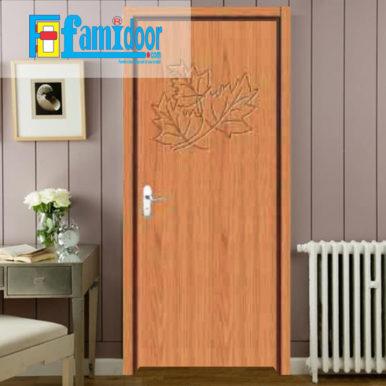 Cửa gỗ cao cấp PVC 1159 ở Showroom Famidoor được phủ một lớp nhựa PVC cao cấp vân gỗ trên bề mặt.
