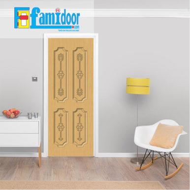 Cửa nhựa gỗ SUNGYU SYA 321 ở Showroom Famidoor được làm từ hạt nhựa và bột gỗ để tạo nên cửa nhựa gỗ giống như gỗ thật và có khả năng chịu được nước.