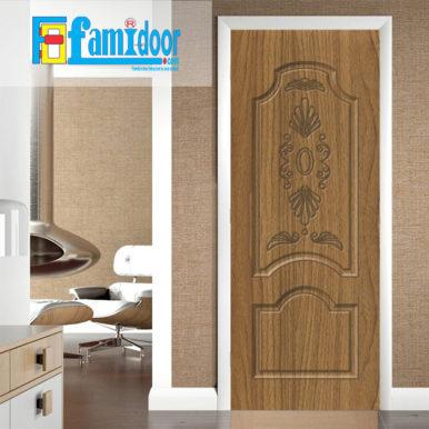 Cửa nhựa gỗ SUNGYU SYB 227 ở Showroom Famidoor được làm từ hạt nhựa và bột gỗ để tạo nên cửa nhựa gỗ giống như gỗ thật và có khả năng chịu được nước.
