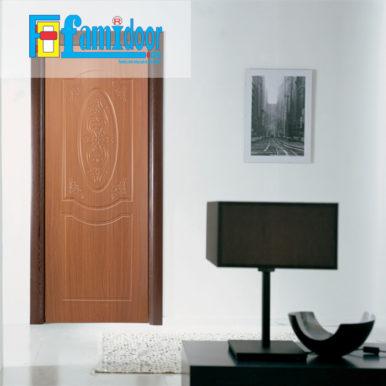 Cửa nhựa gỗ SUNGYU SYB 243 ở Showroom Famidoor được làm từ hạt nhựa và bột gỗ để tạo nên cửa nhựa gỗ giống như gỗ thật và có khả năng chịu được nước.
