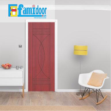 Cửa nhựa gỗ SUNGYU SYB 412 ở Showroom Famidoor được làm từ hạt nhựa và bột gỗ để tạo nên cửa nhựa gỗ giống như gỗ thật và có khả năng chịu được nước.