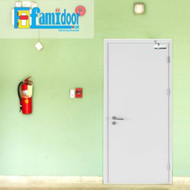 Cửa thép chống cháy TCC-P12 tại Showroom Famidoor thường được làm từ vật liệu thép chất lượng cao. Cửa thép chống cháy có khả năng chịu nhiệt tốt để có thể chịu đựng trong môi trường có nhiệt độ cao khi hỏa hoạn xảy ra.