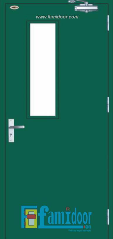 Cửa thép chống cháy TCC-P1G1A Showroom Famidoor 0886.500.500
