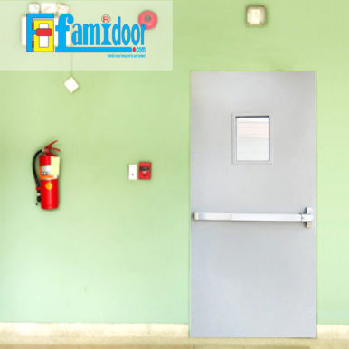 Cửa thép chống cháy TCC-P1G1BG ở Showroom Famidoor thường được làm từ vật liệu thép chất lượng cao. Cửa thép chống cháy có khả năng chịu nhiệt tốt để có thể chịu đựng trong môi trường có nhiệt độ cao khi hỏa hoạn xảy ra.