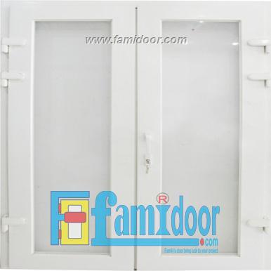 Cửa nhựa lõi thép FMD-UD01 ở Showroom Famidoor 0828.400.400