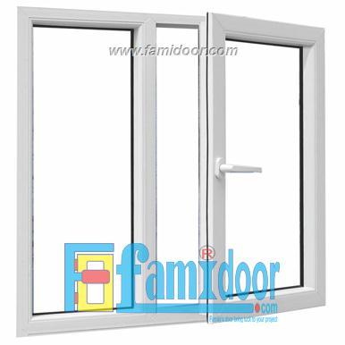 Cửa nhựa lõi thép FMD-UW04 ở Showroom Famidoor 0828.400.400